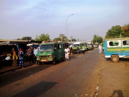 (Credit photo, Michel), La gare des SOTRAMA à Bamako