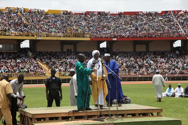 meeting HCI (Haut Conseil Islamique du Mali) au Stade du 26 Mars