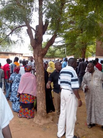 Centre de vote, Ecole Nelson Mandela Hippodrome Bamako; crédit Michel